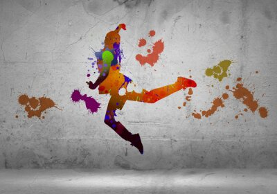 Fotomural Dançarino abstrato