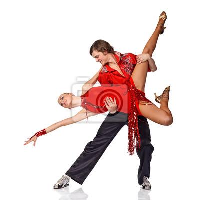 Fotomural Dançarinos do Latino na ação.