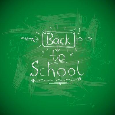 Fotomural De volta à escola, chalkwriting na imagem Eps10 vector quadro negro,.
