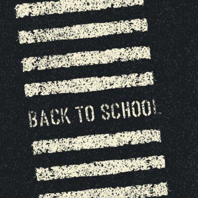Fotomural De volta à escola. Conceito de segurança rodoviária. Vector.