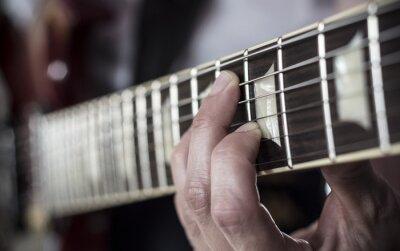 Fotomural Dedos sobre diapasão de guitarra