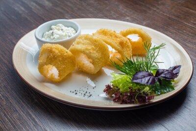 Fotomural Deep batter frito lula calamari