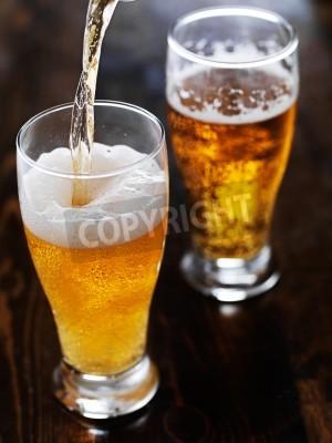 Fotomural Derramando, cerveja, alto, caneca, esquadria, tabela