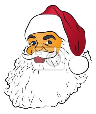 Desenho Colorido De Papai Noel Fotomural Fotomurais Noel Natal
