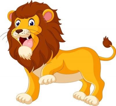 Fotomural Desenhos animados bonitos do leão da ilustração