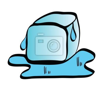 Desenhos Animados Icone Cubo De Gelo Fotomural Fotomurais
