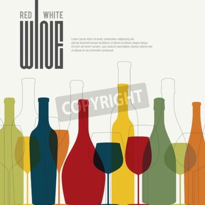 Fotomural Design da lista de vinhos