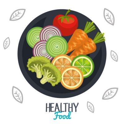 Fotomural Design de alimentos saudáveis