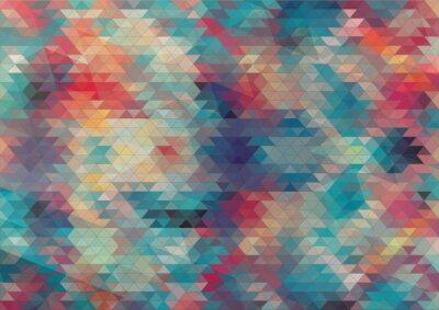 Fotomural design plano geométrico colorido fundo