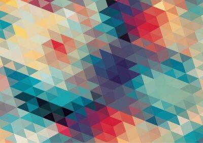 Fotomural design plano retro geométrico colorido fundo