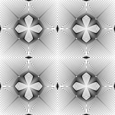 Fotomural Design seamless monocromático padrão geométrico