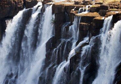 Fotomural Detalhe de queda de água Victoria Falls. Fechar-se. Mosi-oa-Tunya Parque nacional. E Património Mundial. Zambiya. Zimbábue. Uma excelente ilustração.