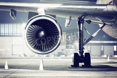 Fotomural Detalhe de uma turbina de avião