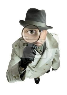 Fotomural detetive com lupa 1