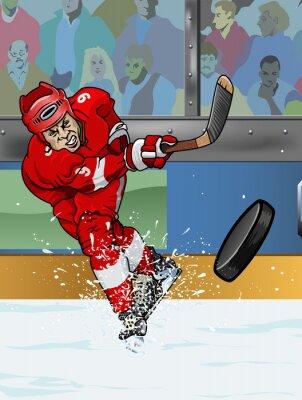 Fotomural Detroit jogador de hóquei no gelo.
