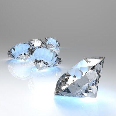 Fotomural Diamantes 3d na composição