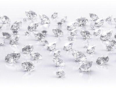 Fotomural diamantes grande grupo em fundo branco