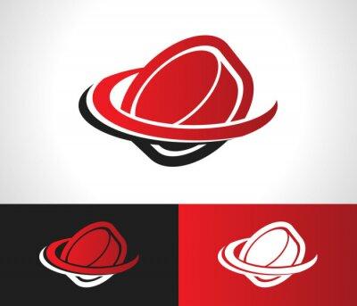 Fotomural Disco de hóquei do ícone do logotipo