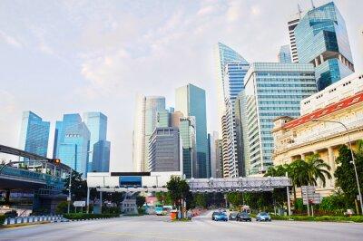 Fotomural Distrito de negócios de Singapura