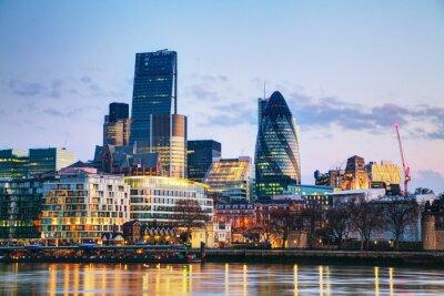 Fotomural Distrito financeiro da cidade de Londres