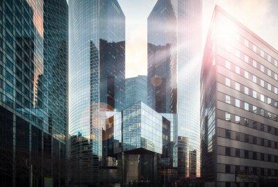 Fotomural Distrito financeiro sob o sol