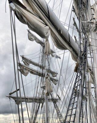 Fotomural Dockside do navio de navigação velho