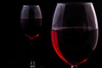 Fotomural Dois, vidros, vermelho, videira