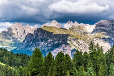 Fotomural Dolomitas Itália - Val Gardena - Passo Sella