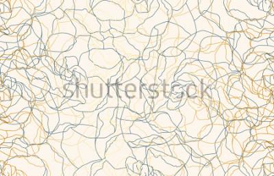 Fotomural Doodle de vintage sem costura imprimível repetir de fundo. Papel de parede, ilustração de raster em super alta resolução.