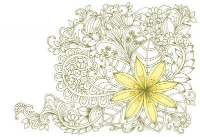 Fotomural Doodles florais