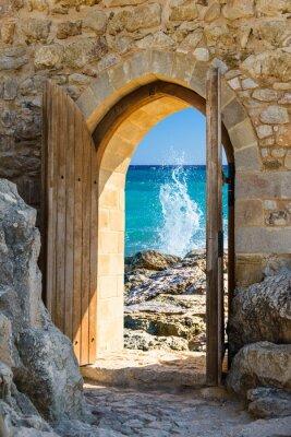 Fotomural door open sea