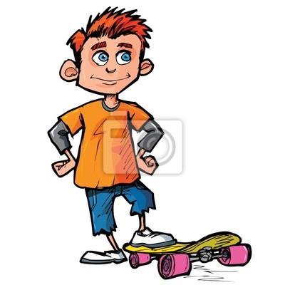 dos desenhos animados de skatista fotomural fotomurais skatista