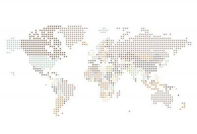 Fotomural Dotted, mapa, quadrado, pontos