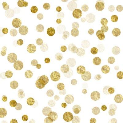 Fotomural Dourado, branca, pontos, Faux, folha, metálico, fundo, Padrão, textura