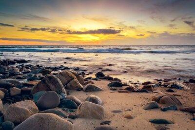 Fotomural Dramático, pôr do sol, rochoso, costa