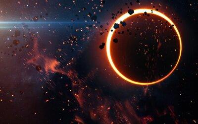Fotomural Eclipse solar acima de uma nebulosa. Elementos desta imagem fornecidos pela NASA
