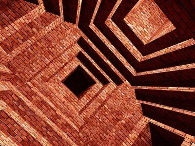Fotomural edifício abstarct tijolo