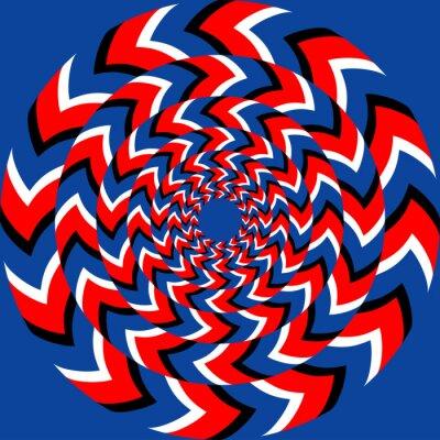 Fotomural Efeito de rotação com efeito da ilusão óptica