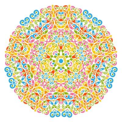 Fotomural Elementos decorativos Elemento - elementos, florais e abstratos Elemento decorativo, isolados no fundo branco. Colorido, abstratos, decorativo, Padrão - ornamentado, motivo, desenho, elementos,