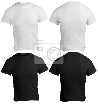 00b75266100d7 Em branco preto e branco camisa masculina fotomural • fotomurais ...