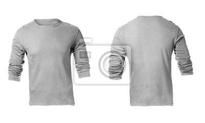 409dff0faf155 Em branco template cinza manga comprida camisa dos homens fotomural ...