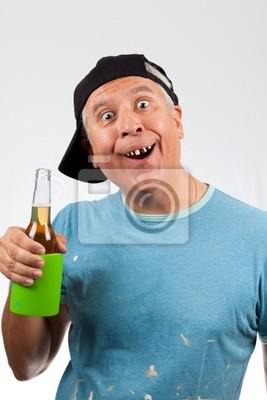 Engraçado homem de meia idade olhando com dentes ruins fotomural ... b6b658ad781