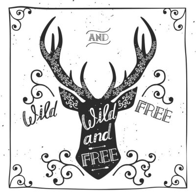 Fotomural Entregue o cartaz tirado da tipografia, cartão, para o projeto do t-shirt