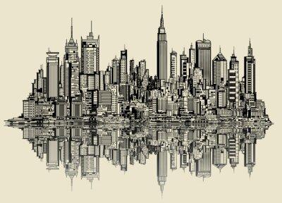 Fotomural esboço de Nova Iorque