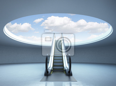 Fotomural Escada rolante escada para o sucesso