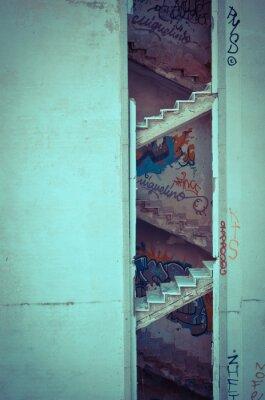 Fotomural escadaria decaída