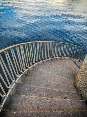 Fotomural Escadas, baixo, água