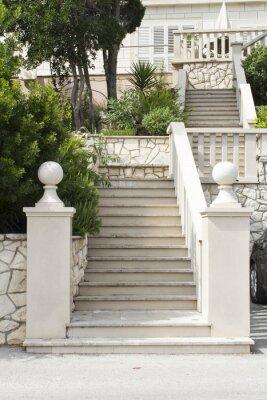 Fotomural Escadas na ilha de Korcula, Croácia