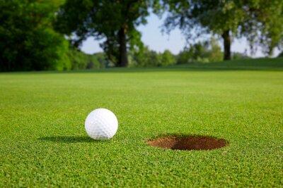 Fotomural Esfera de golfe no verde