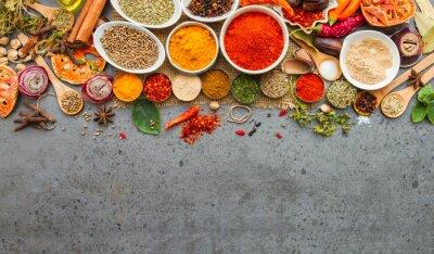 Fotomural Especiarias e herbs.Food e cozinha ingredientes.